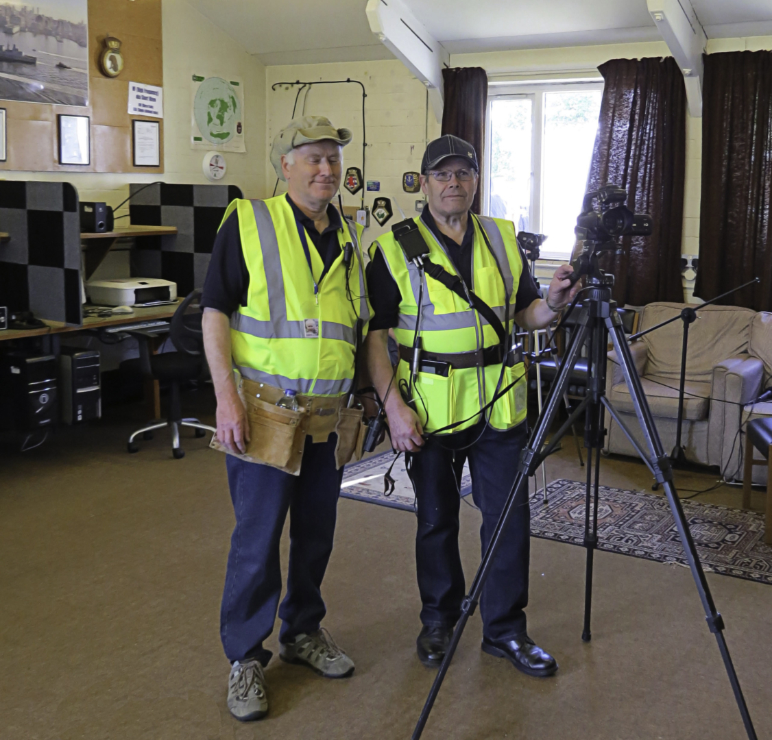 Simon G0IEY and Frank G0LFI the main RNARS ATV Photo Team