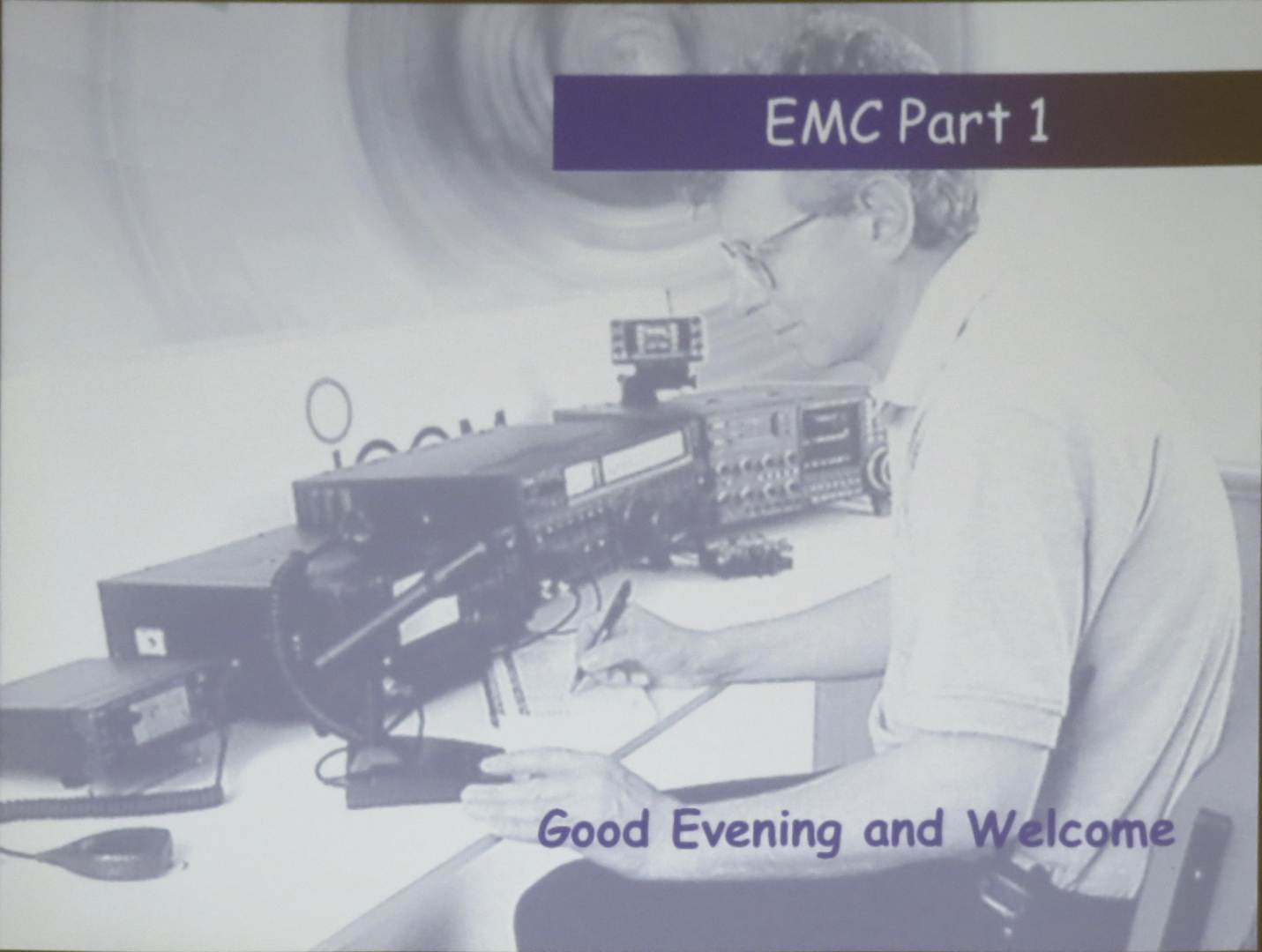 Talk on EMC by Dave Williams G8PUO at Deverell Hall Purbrook Nov 2016