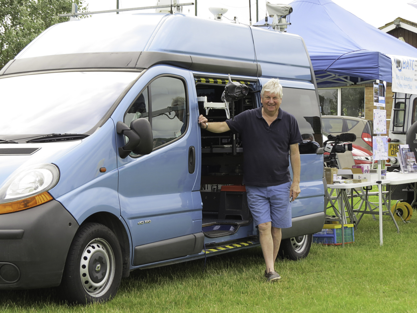 Tony with his Mobile ATV Van alogside BATC Stand at the Reading Rally July 2016